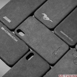 iPhone X alcantara skal (bilmärke)