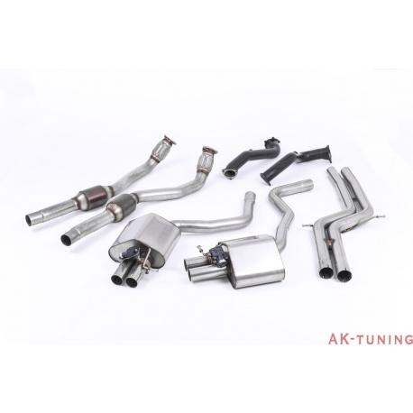 Audi RS7 Sportback 4.0 V8 TFSI biturbo Full System - Non Res med 76mm Downpipes och 100 cell katalysator. Använder OEM ändrör. K