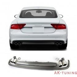 S7 diffuser med ändrör till Audi A7 4G med S-line stötfångare