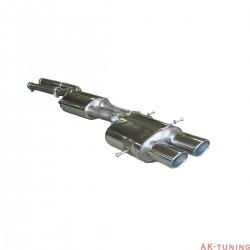 """Audi RS4 B5 V6 Bi-Turbo Avant Cat-back - Non-Resonated. Passar OEM katalysators 2,5"""""""