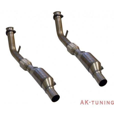 Audi RS4 B5 V6 Bi-Turbo Avant Katalysator ersättningsrör - Non-resonated Link Pipes. Enbart med Milltek cat-back och kräver Steg