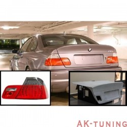 BOOT LID LOOK CSL + TAIL LIGHTS LED BMW E46 98-01 COUPE