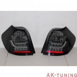 REAR LIGHTS BMW E87 / E81 07-11 BLACK/SMOKED FLASHING LED