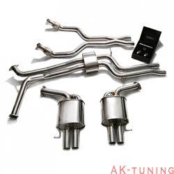 Audi S6 C7 4.0 Twin Turbo Avant (2013-) - Front Y-rör + Link-pipe + Mittenrör med resonator (dämpad) + Valvetronic ljuddämpare