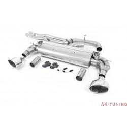 "Audi RS3 Sedan/Sportback (8V MQB Facelift) Cat-back - Non-Resonated (Högre) med Polished ovala ändrör 3"" | SSXAU741"