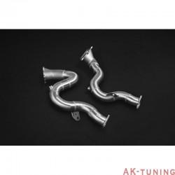 Audi S8 4.0TFSi - Capristo downpipes med 200 cells racekatalysatorer