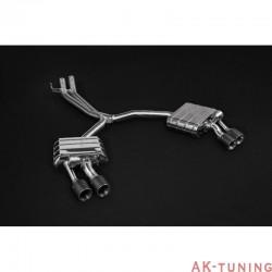 Audi S5 3.0TFSi B9 - Capristo Cat-Back Kolfiber utblås med aktiva avgasventiler