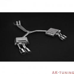 Audi S5 3.0TFSi B9 - Capristo Cat-Back chromade utblås med aktiva avgasventiler