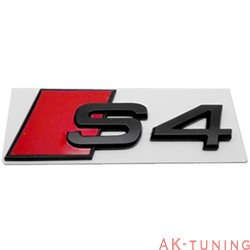 Audi S4 blanksvart emblem bak