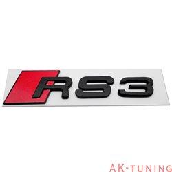 Audi RS3 blanksvart emblem bak