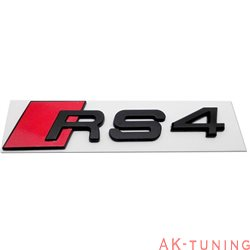 Audi RS4 blanksvart emblem bak | AK-rs4-embl-bak-blank