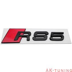 Audi RS5 blanksvart emblem bak