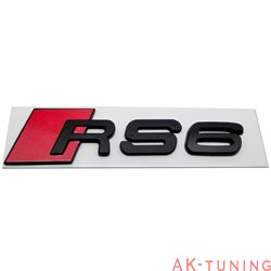 Audi RS6 blanksvart emblem bak
