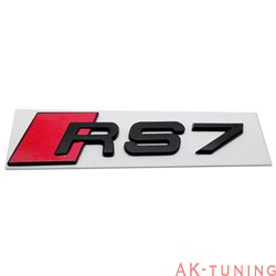 Audi RS7 blanksvart emblem bak