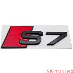 Audi S7 blanksvart emblem bak