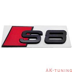 Audi S8 blanksvart emblem bak