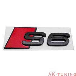 Audi S6 blanksvart emblem bak
