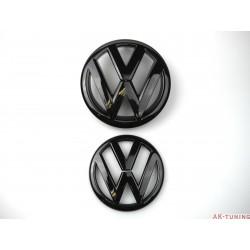 VW Golf MK6 Blanksvart emblem fram & bak