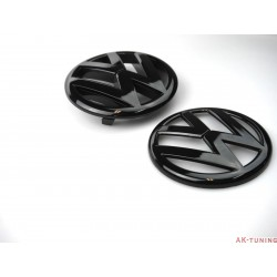 VW Golf MK7 Blanksvart emblem fram & bak