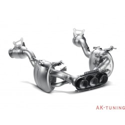 Ferrari 458 Italia/Spider 2010-2014 - Akrapovic Slip-On Line, Titan med Kolfiberslutrör + Link pipe