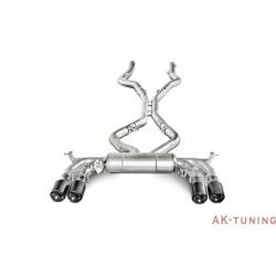 BMW X5M F85 2015 - Akrapovic Evolution System, Titan med Kolfiberslutrör