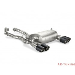 BMW M4 (F32/F33/F36/F82/F83) 2014 - Akrapovic Evolution Line (Slip-on + link pipe), Titan med Kolfiberslutrör