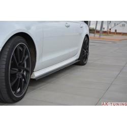 Sidokjol splitter - Audi A6 C7.5 Facelift   AK-AU-A6-C7F-SLINE-SD1