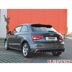 Audi A1 (8X) - 1.4TSI (185hk) 2010 - 2014 - Rostfritt bakre ljuddämpare med runda ändrör 2x80 mm
