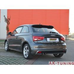 Audi A1 (8X) - 1.4TSI (185hk) 2010 - 2014 - Rostfritt bakre ljuddämpare med runda sport line ändrör 2x80 mm