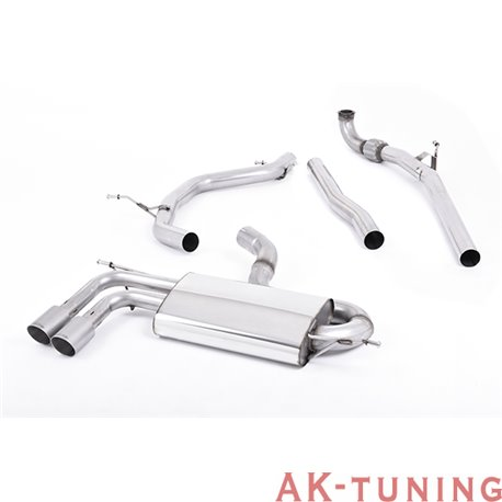 "Audi A3 2.0 TDI 140hk 2WD 3-dörrars non-DPF Turbo-back - Titanium ändrör 2,75"""