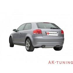 Audi A3 (8P) - 1.9TDi (105hk) - 2.0TDi (136hk/140hk) 05/2003 - - Rostfritt bakre ljuddämpare med oval Sport Line ändrör 135x90