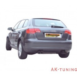 Audi A3 (8P) - Sportback 1.9TDi DPF (105hk) - 2.0TDi DPF (140hk) 06/2005 - - Rostfritt bakre ljuddämpare med oval Sport Line ...
