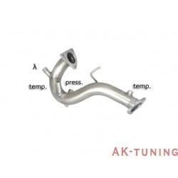Audi A5 (B8) - Cabrio 2.7TDi V6 (190hk) 2009 - 2011 - Rostfritt katalysator ersättningsrör + partikelfilter ersättningsrör gr...