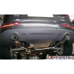 Audi Q5 (8R) - Quattro 2.0TDi (170hk) 2008 - 2012 - Rostfritt bakre ljuddämpare med runda ändrör 2x80 mm
