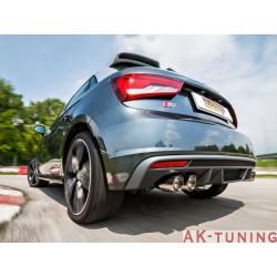 Audi S1(8X) - Sportback 2.0TFSI Quattro (230hk) ø76mm 2014 - - Rostfritt mitten dämpare\r överdimensionerat avgasrör diamet...