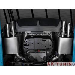 Ford Mustang V - 5.0 V8 (418hk) 2011 - - Rostfritt mitten dämpare + Rostfritt bakre ljuddämpare vänster/höger med runda