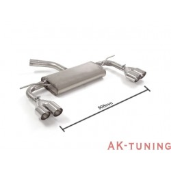 Volkswagen Golf Mk7 - 1.6TDi (90hk/110hk) 2013 - - Rostfritt bakre ljuddämpare vänster/höger med runda sport line ändrör 2x80...