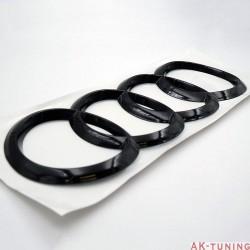 Audi blank svarta ringar bak (böjda) - A5/A7 mfl. | AK-blackringbak-bojda