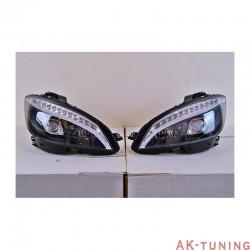 Lyktor fram - Mercedes C-class (W204) svarta LED