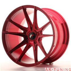 Japan Racing JR21 19x11 ET15-30 5H Platinium Red