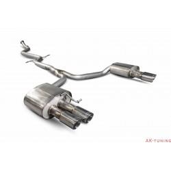 Audi A5 B8 2.0 TFSI - Cat-back (non-resonated) - Daytona (quad) ändrör - Scorpion | SAUS073