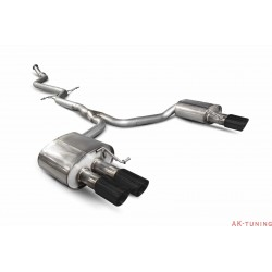 Audi A5 B8 2.0 TFSI - Cat-back (non-resonated) - Daytona (quad) Svarta keramiska ändrör - Scorpion | SAUS073C