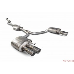Audi A5 B8 2.0 TFSI - Cat-back (resonated) - Daytona (quad) ändrör - Scorpion | SAU073