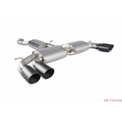 Audi S3 2.0T 8V Saloon - Cat-back (resonated) utan avgasspjäll - Daytona Svarta keramiska ändrör - Scorpion | SAU052DC