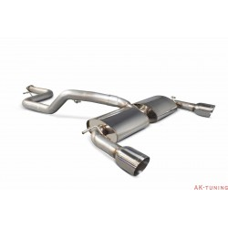 Ford Focus MK2 ST 225 2.5 Turbo - 76mm/3 Non-Cat-back (resonated) - Daytona ändrör - Scorpion