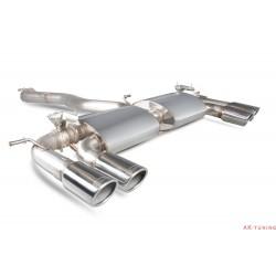 Volkswagen Golf MK7 R - Cat-back (non-resonated) med elektriska avgasspjäll - Monaco ändrör - Scorpion | SVWS046