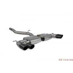Volkswagen GolF R MK7.5 Facelift - Non-res Cat-back system - Monaco Svarta keramiska ändrör - Scorpion