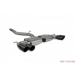 Volkswagen GolF R MK7.5 Facelift - Non-res Cat-back system - Daytona Svarta keramiska ändrör - Scorpion
