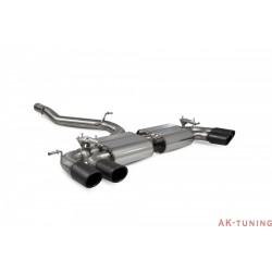 Volkswagen GolF R MK7.5 Facelift - Cat-back (non-resonated) med elektriska avgasspjäll - Monaco Svarta keramiska ändrör -