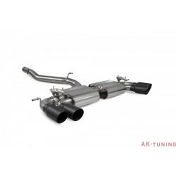 Volkswagen GolF R MK7.5 Facelift - Cat-back (non-resonated) med elektriska avgasspjäll - Daytona Svarta keramiska ändrör -